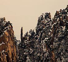 winter,  Huang Shan  by woqisiyasi