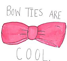 Bow ties are cool by fandomland