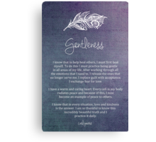 Affirmation - Gentleness Canvas Print