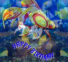 Lots of Fishy Tails birthday card by Dennis Melling