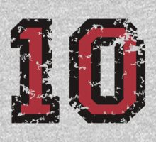 The Number Ten - No. 10 (two-color) red by theshirtshops