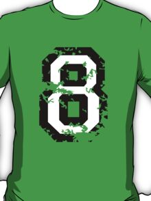 Number Eight - No. 8 (two-color) white T-Shirt
