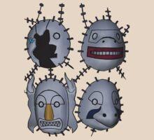 Naruto! - Kakuzu - 4 Elemental Masks V2 by xisxis