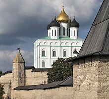 View of the Pskov Kremlin by mrivserg