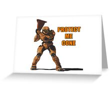 Red vs Blue - Protect Me Cone Greeting Card