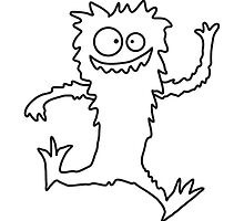 Running jumping fast hairy Monster by Style-O-Mat