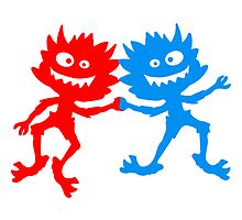 2 pairs little naughty dancing hairy Monster by Style-O-Mat