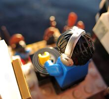 DJ Barnacle Spinnin' Up Some Tunes while underway by bricksailboat