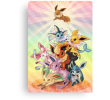 Eeveelution Pileup Canvas Print