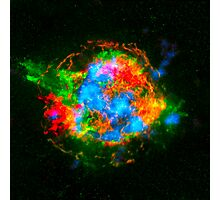 How Stars Die - Remains of Cassiopeia after a supernova explosion Photographic Print