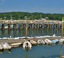 Summer Day at Northport Harbor by Gilda Axelrod
