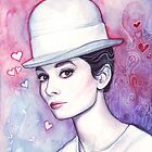 Audrey Hepburn Fashion Watercolor by OlechkaDesign