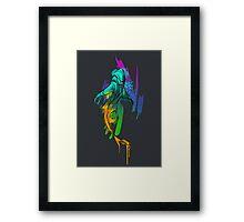 Watercolor Shark Framed Print