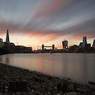 Sunset at Bermondsey Beach by Ursula Rodgers
