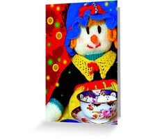 Knitted Dolls Fun 6 Greeting Card