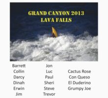 Grand Canyon Lava Falls Erwin w/ Names by dinahmite