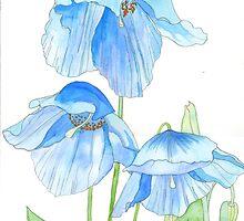 Himalayan Blue Poppies by Esmee van Breugel