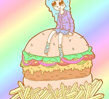 Hamburger Girl by MoonDropKingdom