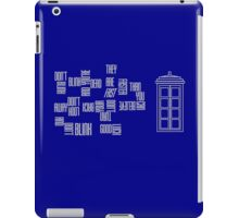 Don't Blink - Twisted Type (version 2) iPad Case/Skin