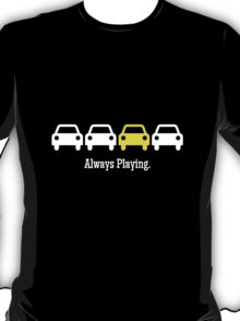 Cabin Pressure - Always Playing Yellow Car T-Shirt