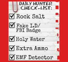 Supernatural: Daily Hunter checklist by SociallyAwkward