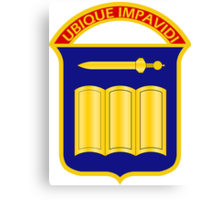 420th Infantry Regiment - Ubique Impavidi - In All Things Undaunted Canvas Print