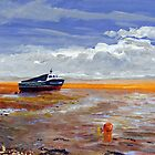 Boat at Weston-super-Mare by Antony R James