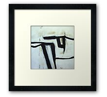Under the Sweeping Rocks - New Black White Abstract Stylish Fine Art Framed Print