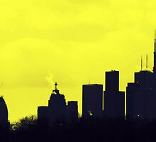 Toronto Skyline in Yellow by Valentino Visentini