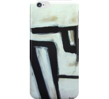 Under the Sweeping Rocks - New Black White Abstract Stylish Fine Art iPhone Case/Skin