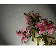 Time Heals Nothing Photographic Print