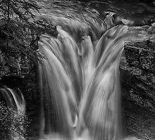 Waterfall at Johnston Canyon - Banff National Park, Alberta by PURVESH TRIVEDI