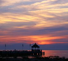 Sunset at the Gazebo by Gilda Axelrod