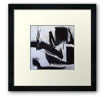 Planting Seeds - New Black White Abstract Stylish Fine Art Framed Print