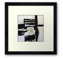 The Boxed Furnace- New Black White Abstract Stylish Fine Art Framed Print