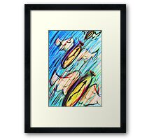 Flying clocks Framed Print