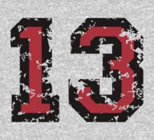 Number Thirteen - No. 13 (two-color) red by theshirtshops