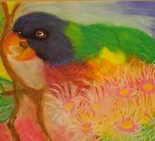 Rainbow Lorikeet by tinikas1art