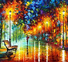 STROLL IN THE FOG by Leonid  Afremov