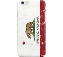 San Diego California Republic Distressed  iPhone Case/Skin
