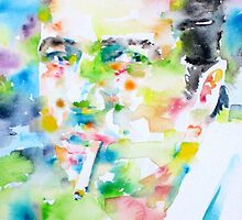 JOE STRUMMER - watercolor portrait by lautir