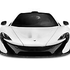 McLaren P1 plug-in hybrid supercar front art photo print by ArtNudePhotos
