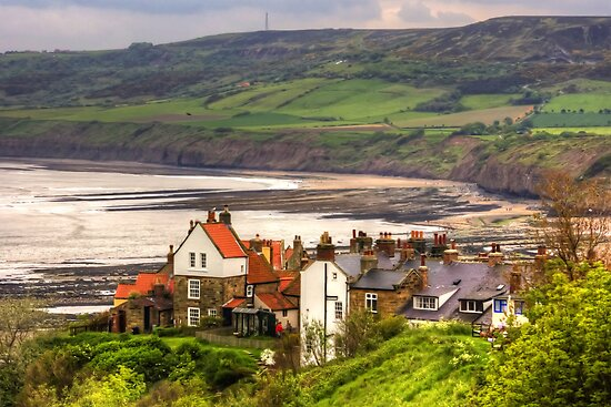 First view of Robin Hood's Bay by Tom Gomez
