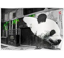 Spray paint panda Poster