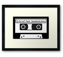 Sleeping With Sirens Cassette Tape Framed Print
