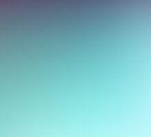 AQUA / Plain Soft Mood Color Blends / iPhone Case by burning