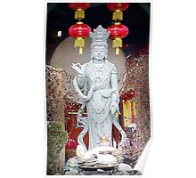 Buddhist Statue at the Temple Poster