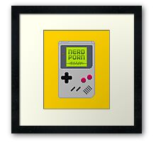 NERD BOY Framed Print
