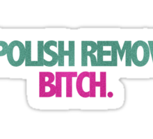 Polish Remover Sticker