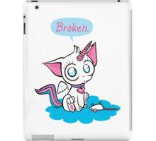 broken – unicorn kitty iPad Case/Skin
